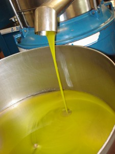 Freshly pressed olive oil.